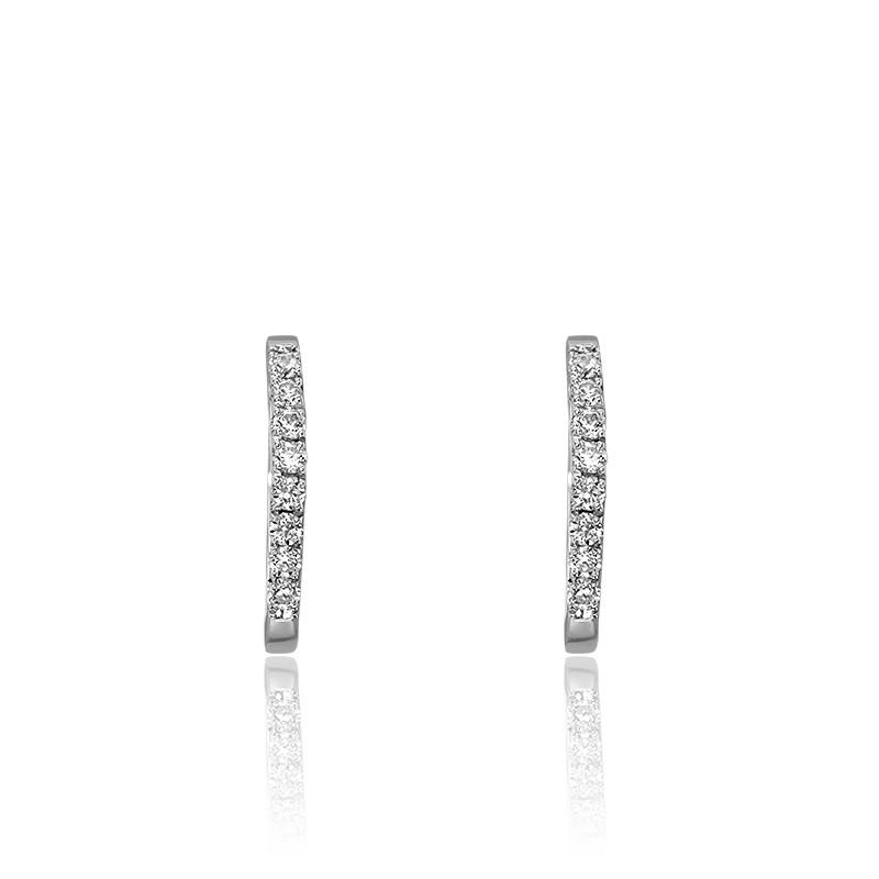 8a07ad1257d4 Pendientes de aros Oro Blanco y Diamantes - Juweel - Ocarat