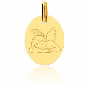 Medalla Ángel Adormecido Oro Amarillo 18K