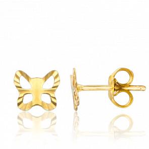 Pendientes Mariposas Caladas Oro Amarillo 9K