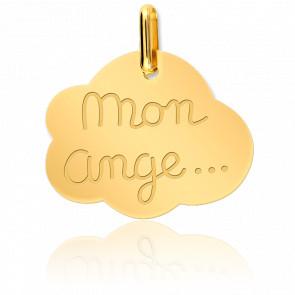 """Medalla """"Mon Ange"""" Oro Amarillo 18K"""