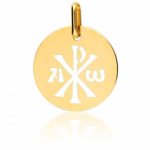 Medalla Crismón Calado Oro Amarillo 18K