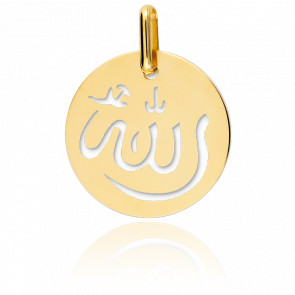 Medalla Alá Calada Oro Amarillo 18K