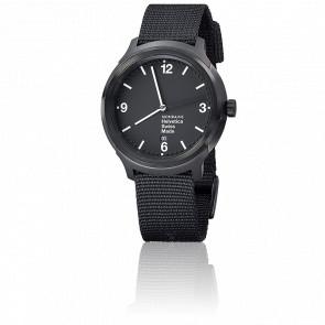 Reloj Helvetica No1 Bold All Black Nato 43 mm