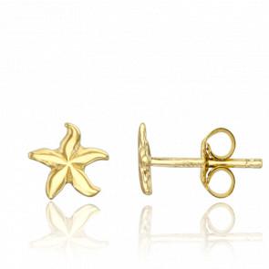 Pendientes Estrellas de Mar Oro Amarillo 9K