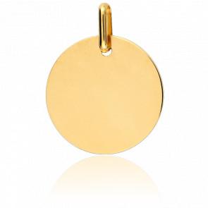Medalla para Grabar Circular MG Oro Amarillo 18K