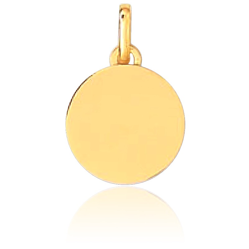 Medalla para Grabar Circular MP Oro Amarillo 18K