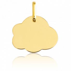 Medalla Para Grabar Nube MP Oro Amarillo 18K
