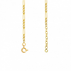 Tobillera Malla Figaro Oro Amarillo 18K