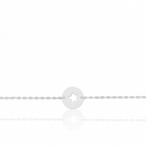 Pulsera Estrella Oro Blanco 18K