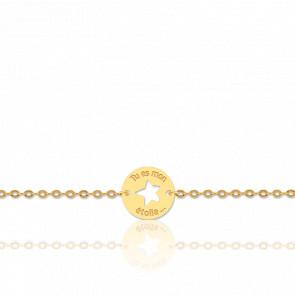 Pulsera Estrella Oro Amarillo 18K