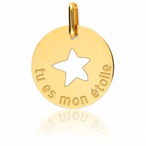 "Colgante ""Tu Es Mon Etoile"" Oro Amarillo 18K"