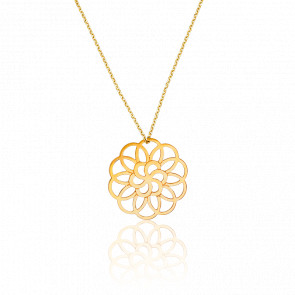 Collar Rosetón Chapado en Oro