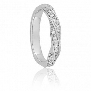 Alianza Cleopatra Oro Blanco 18K & Diamantes