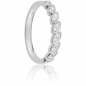Alianza Daget Oro Blanco 18K & Diamantes