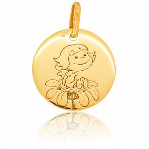 Medalla Preciosa Naturaleza Oro Amarillo 18K