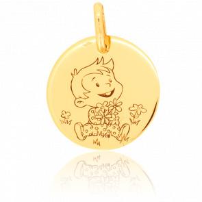Medalla Mágica Naturaleza Oro Amarillo 18K