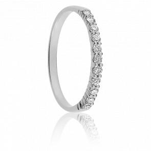 Alianza Maha Oro Blanco 18K & Diamantes