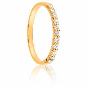 Alianza Mariana Oro Amarillo 18K & Diamantes