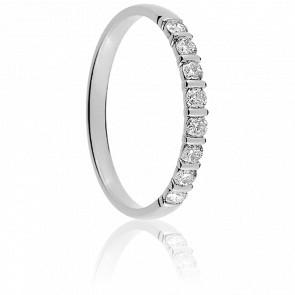 Alianza Nour Oro Blanco 18K & Diamantes