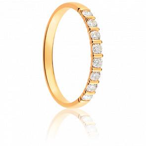 Alianza Racha Oro Amarillo 18K & Diamantes
