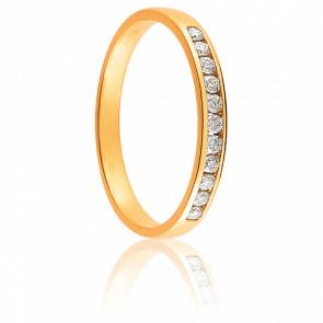Alianza Zeina Oro Amarillo 18K & Diamantes