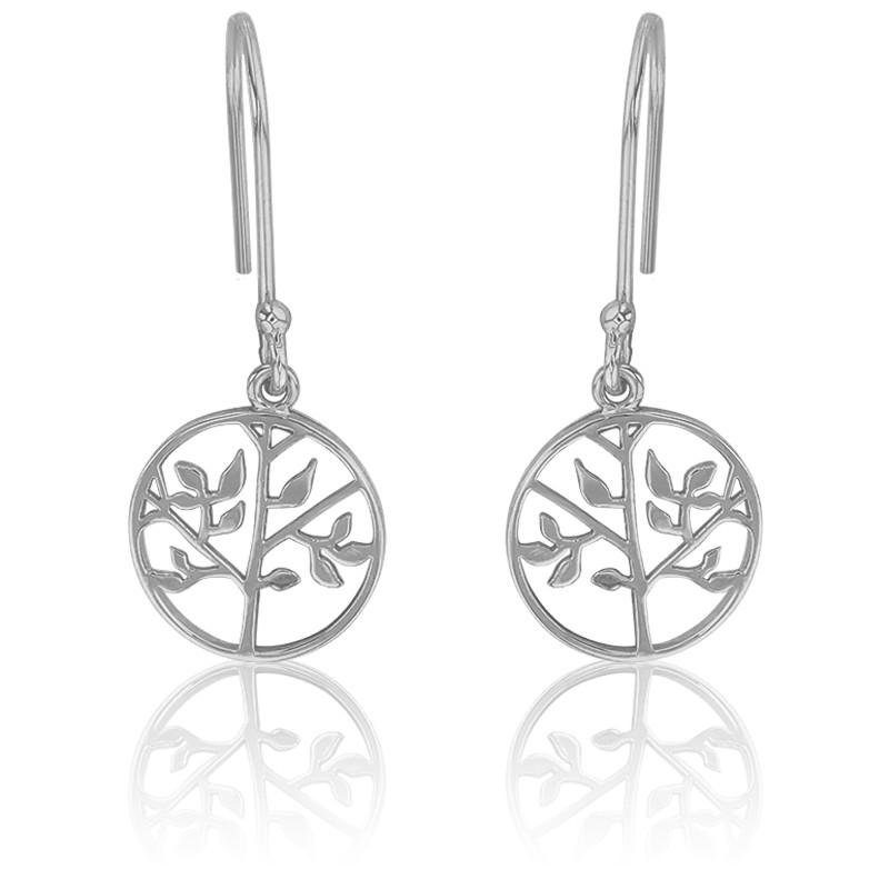 73829495210e Pendientes de Plata del árbol de la vida - Naïades - Ocarat