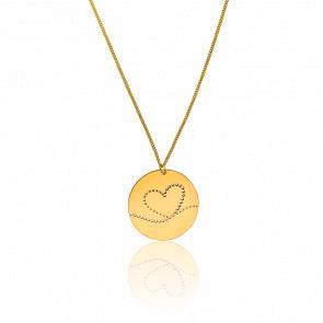 Collar Fay Corazón chapado Oro Amarillo