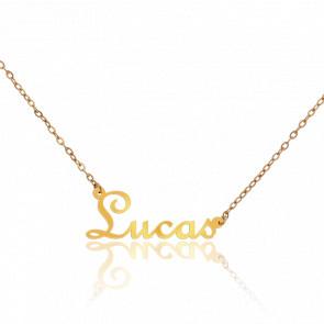Collar Nombre Lucas Oro Amarillo 18K