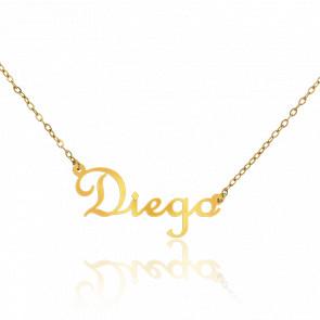 Collar Nombre Diego Oro Amarillo 18K