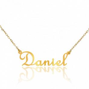 Collar Nombre Daniel Oro Amarillo 18K