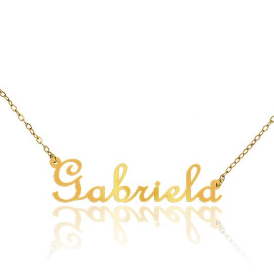 b9f0d3597578 Collar con Nombre Gabriela de Oro amarillo 18kt - Ocarat