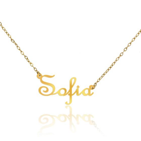 2e630d807f40 Collar de oro amarillo 18k Nombre Sofía - Ocarat