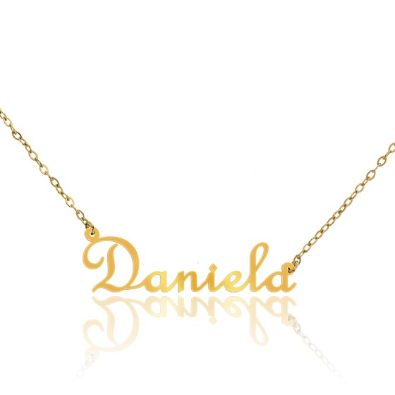 ca0ce8164d05 Collar con Nombre Daniela de Oro Amarillo 18k - Ocarat