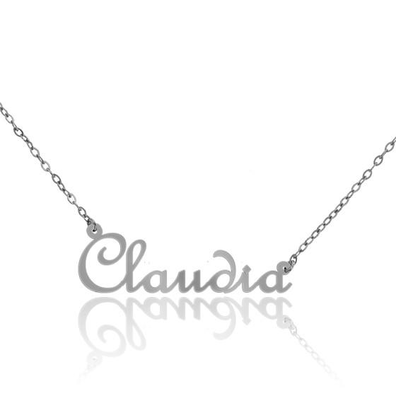 b0806e57a5 Collar de oro blanco 18k Nombre modelo Claudia - Ocarat