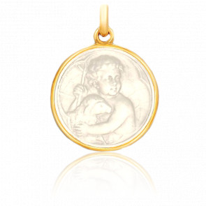 Medalla Niño Jesús Oro Amarillo 18K & Nácar
