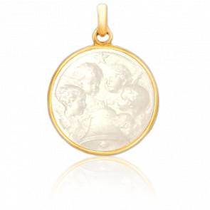 Medalla Ángelus Oro Amarillo 18K & Nácar