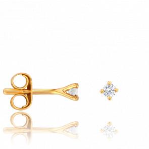 Pendientes de Oro Amarillo & Diamantes 0,06 cts