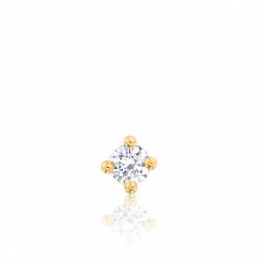 1 pendiente diamante y oro amarillo
