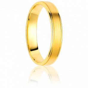 Alianza Montevideo 3 mm Oro Amarillo 18K