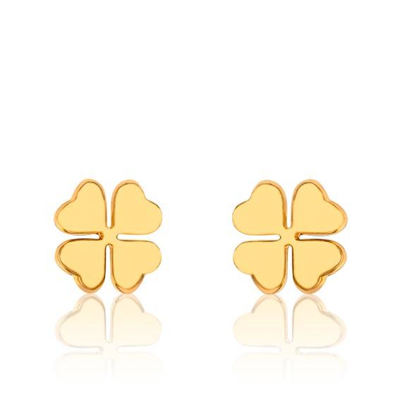 23a389454462 Pendientes de oro amarillo chapado Trébol - Naïades - Ocarat