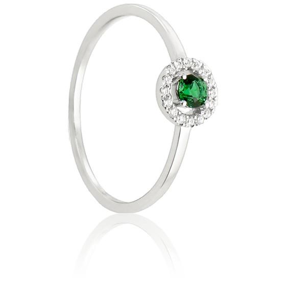 a0edea3ced4e Anillo de oro blanco esmeralda y diamantes Diamond Lady - Ocarat