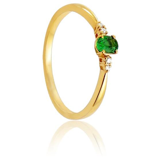 81519df4e278 Anillo de compromiso de oro 18kt y esmeralda - Diamond Lady - Ocarat