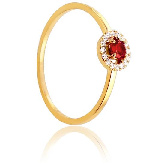 8eeda2555aa8 Anillo de compromiso rubí y diamantes Diamond Lady - Ocarat
