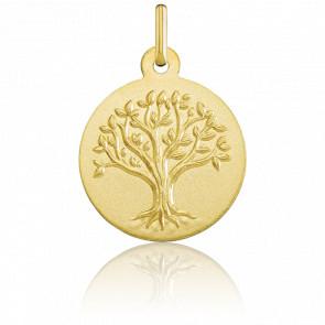 Colgante Árbol de la Vida Relieve Oro Amarillo