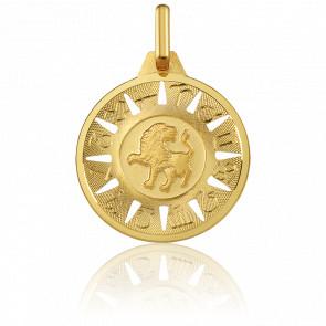 Medalla Signo del Zodiaco Leo Oro Amarillo 18K