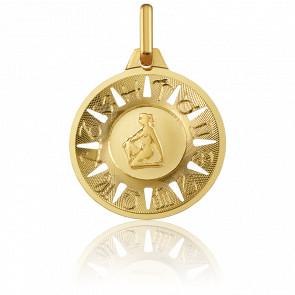 Medalla Signo del Zodiaco Virgo Oro Amarillo 18K
