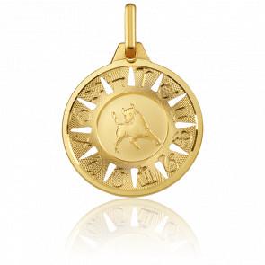 Medalla Signo del Zodiaco Tauro Oro Amarillo 18K