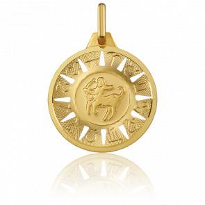 Medalla Signo del Zodiaco Sagitario Oro Amarillo 18K