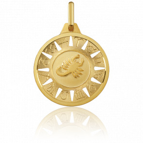 Medalla Signo del Zodiaco Escorpión Oro Amarillo 18K