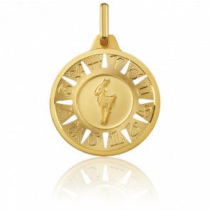 Medalla Signo del Zodiaco Capricornio Oro Amarillo 18K